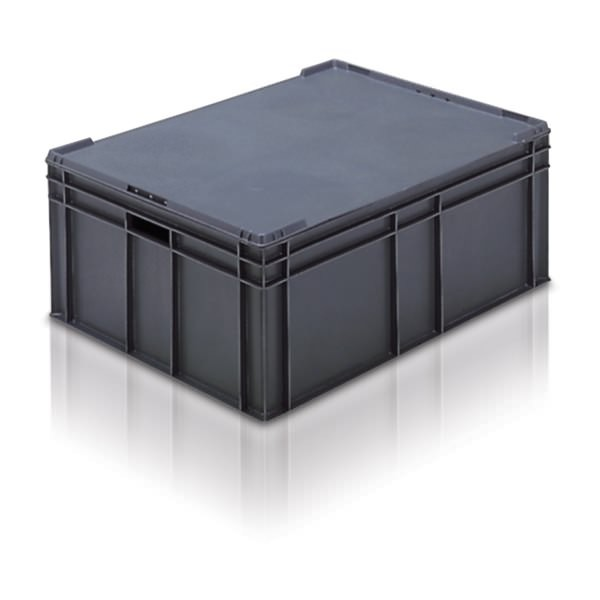 Euro Stacking Boxes (ES211305AA) ES211305 - 21135 - 125 Litre - Grey  - 800x600x319mm