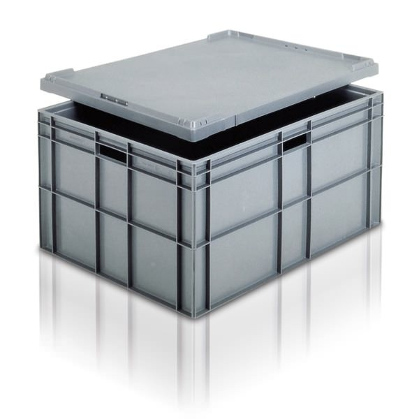 Euro Stacking Boxes (ES211605AA) ES211605 - 21162 - 162 Litre - Grey - 800x600x412mm