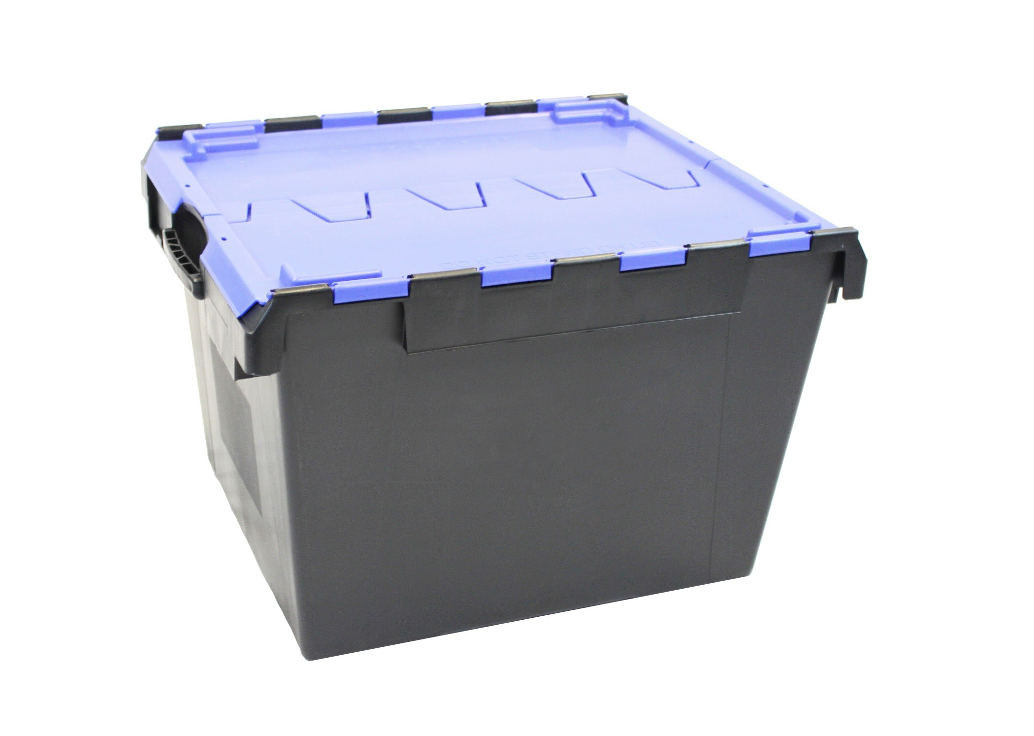 Attached Lid Containers - AT334904 - 138 Litre - Black/Blue - 675x575x465mm
