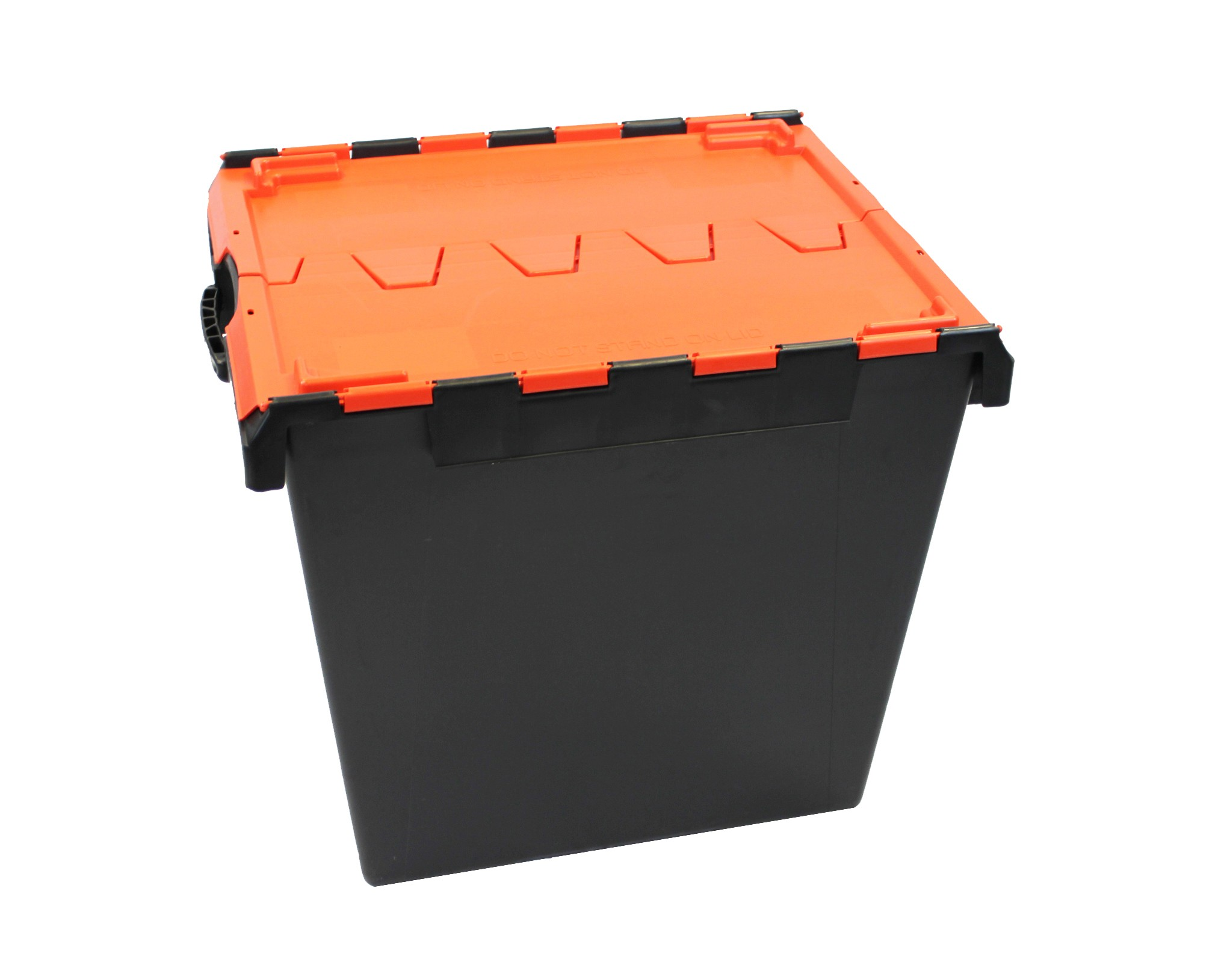 Attached Lid Containers - AT336104 - 165 Litre - Black/Red - 675x575x615mm