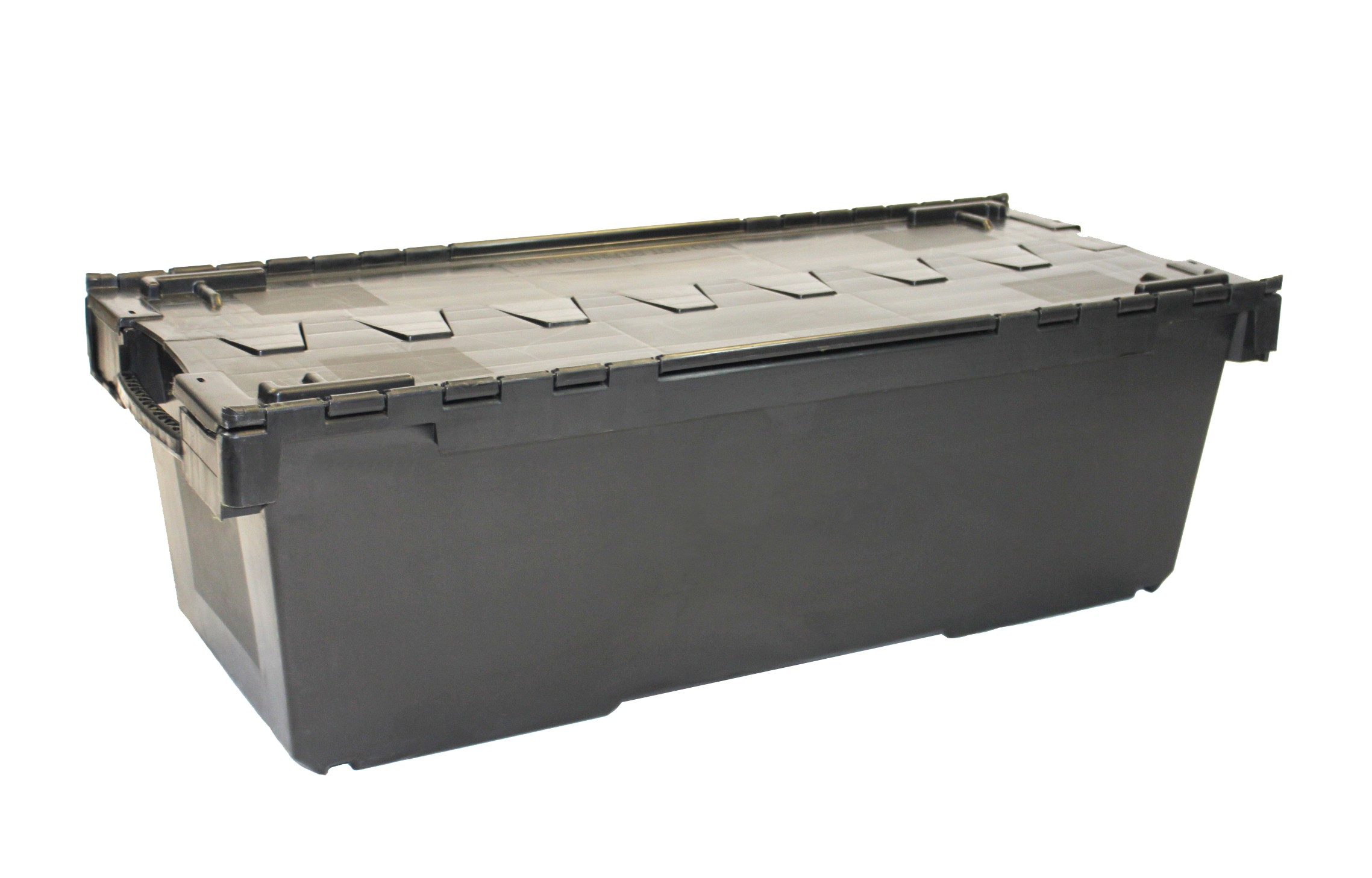 Attached Lid Containers - AT337104 - 135 Litre - Black - 1125x480x360mm