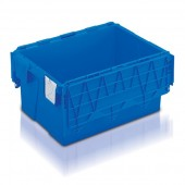 Attached Lid Containers (AT643104AA) AT643104 - 54 Litre - Blue - 600x400x306mm