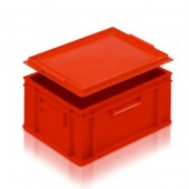 Euro Stacking Boxes (ES102704AC) ES102704 - 21027 - 15 Litre - Red - 400x300x175mm