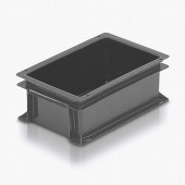 Euro Stacking Boxes (ES210004AA) ES210004 - 21005 - 5 Litre - Grey - 300x200x118mm