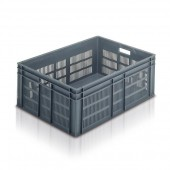 Euro Stacking Container (ES211306AA) ES211306 - 21136 - 125 Litre - Grey - 800 x 600 x 319mm