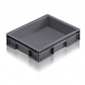Euro Stacking Boxes (ES100604AA) ES100604 - 21006 - 6 Litre - Grey - 400x300x74mm