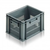 Euro Stacking Boxes (ES102606AA) ES102606 - 21026 - 20 Litre - Grey - 400x300x235mm