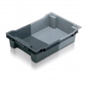 Stack Nest Containers (SN101804AA) SN101804 - 11018 - 18 Litre - Grey/Light Grey - 600x400x117mm