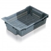 Stack Nest Containers (SN102001AA) SN102001 - 11020 - 18 Litre - Grey - 600x400x117mm