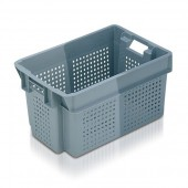 Stack Nest Containers (SN105201AA) SN105201 - 11052 - 50 Litre - Grey - 600x400x300mm