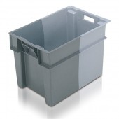 Stack Nest Containers (SN106505AC) SN106505 - 11065 - 70 Litre - Grey - 600x400x400mm