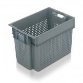 Stack Nest Containers (SN106601AA) SN106601 - 11066 - 70 Litre - Grey - 600x400x400mm