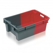 Stack Nest Containers (SN110305AA) SN110305 - 11032 - 32 Litre - Grey/Red - 600x400x200mm